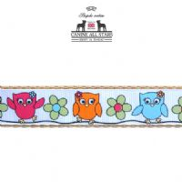 DOG LEAD - CUTE OWLS ON WHITE
